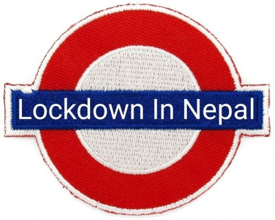 A handicraft poster of Lockdown in Nepal