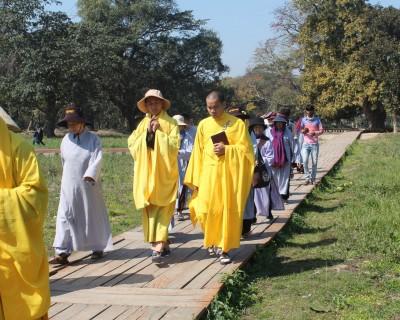 Buddhist Pilgrims at Tilaurakot