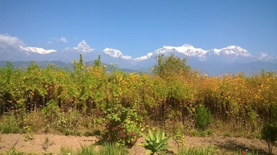 Beautiful View of Mountains from Pokhara