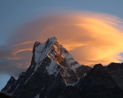 Mt. Machhapuchhre (Fishtail), on the way to ABC